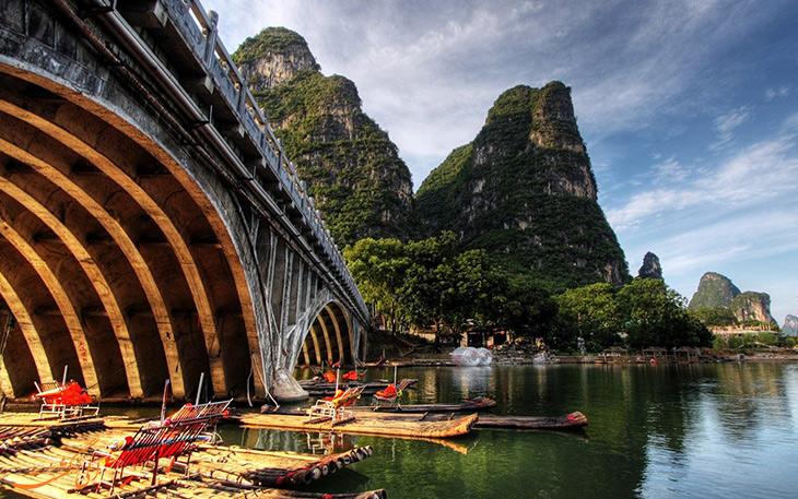 جاذبه های گردشگری شهر گویلین در چین