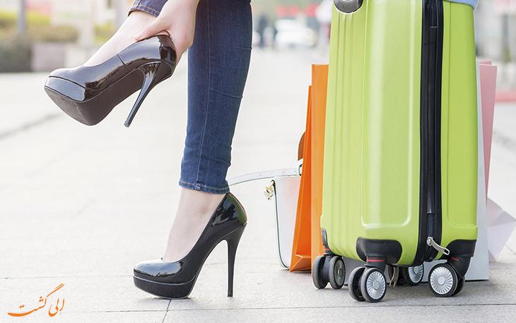 کفش مناسب پرواز
