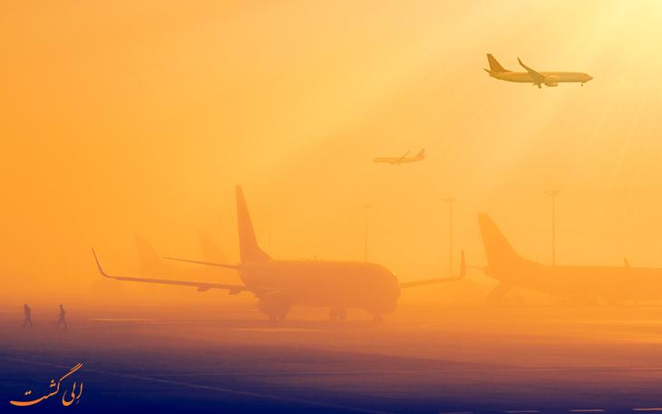 فرود  آمدن در مه