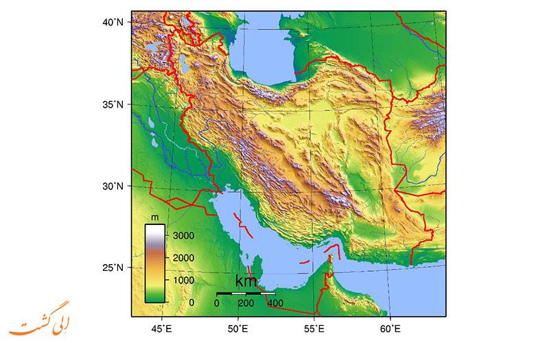 کم ارتفاع ترین مراکز استان ایران