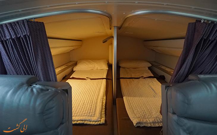 تختخواب در هواپیما