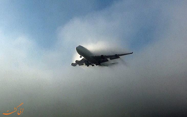 هواپیما در آسمان