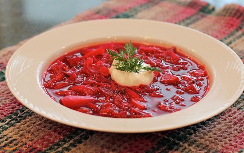 سوپ برش غذاهای معروف روسیه