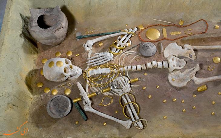 اسکلت های کشف شده در وارنا