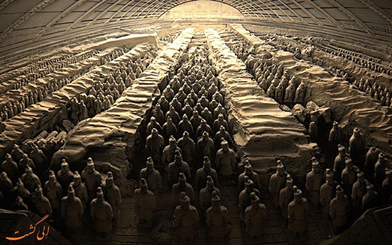 سربازان ایستاده-چین
