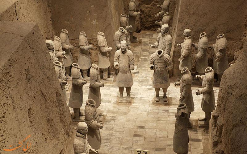 سربازان ایستاده چینی