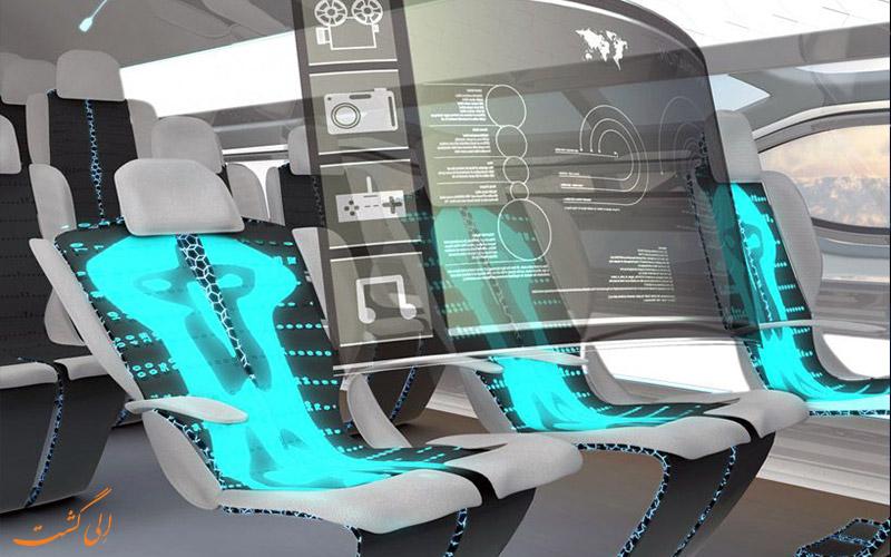 سفرهای 100 سال آینده- صندلی هواپیماها