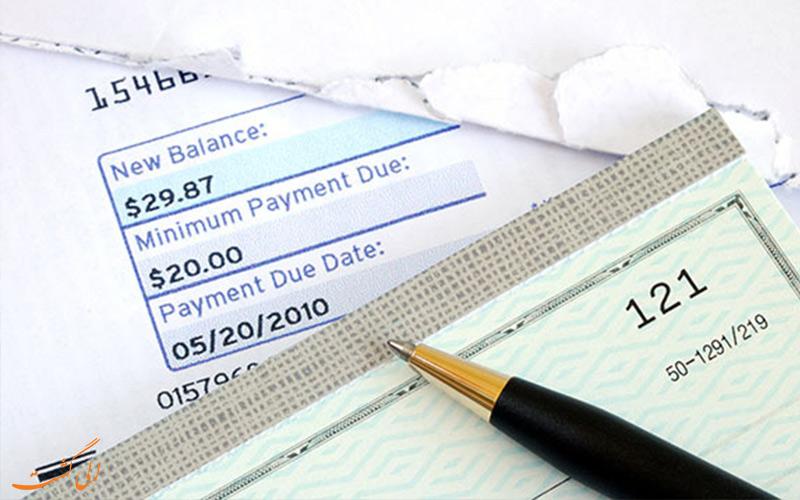 کارهای قبل از سفر- پرداخت قبض