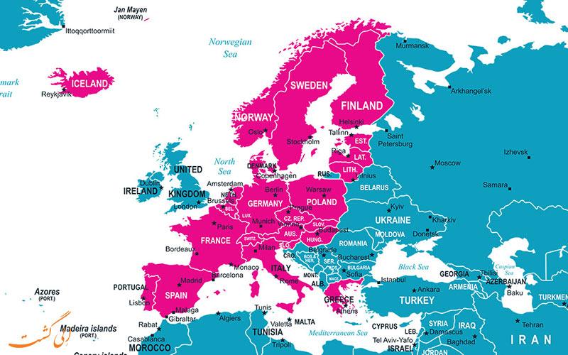 همه کشورهای عضو شینگن
