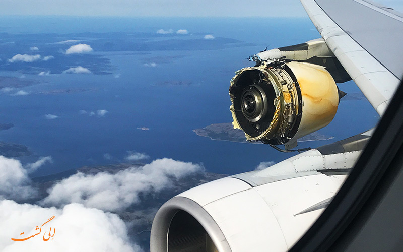 خراب شدن موتور هواپیما