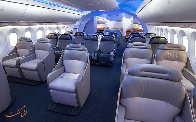 داخل کابین هواپیما