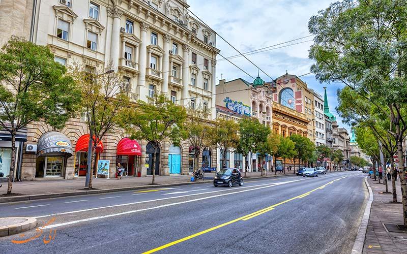 خیابان های صربستان