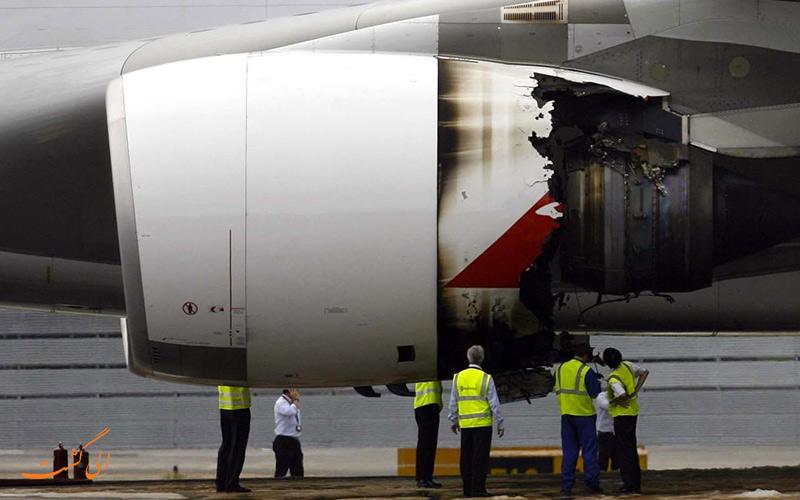 فرود موفقیت آمیز و از کار افتادن موتور هواپیما