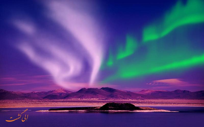 شفق قطبی در ایسلند