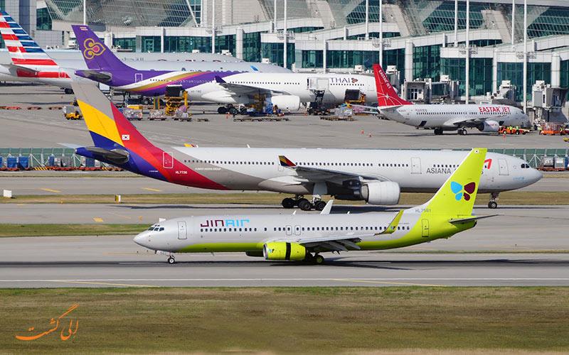 هواپیماهای یک فرودگاه
