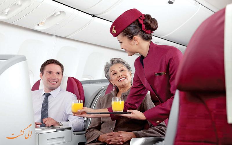 یک مهمانداران هواپیمای قطر
