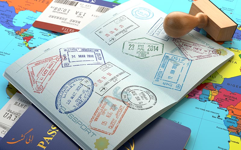مهر در پاسپورت برای ویزا