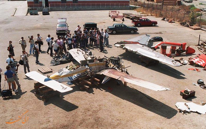 سقوط هواپیما توسط برخورد