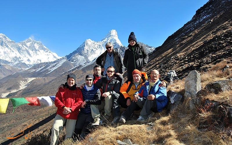توریست های پارک ملی ساگارماتا نپال