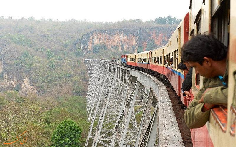 خطرناک ترین پل قطار دنیا