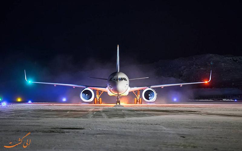 مسیریابی هواپیما در تاریکی شب
