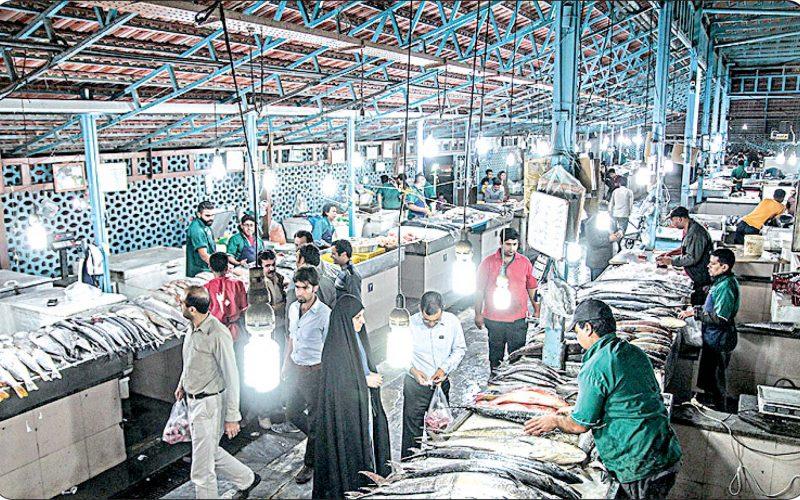 بازار ماهی انزلی