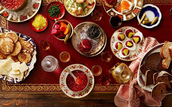 چند غذای محبوب در روسیه