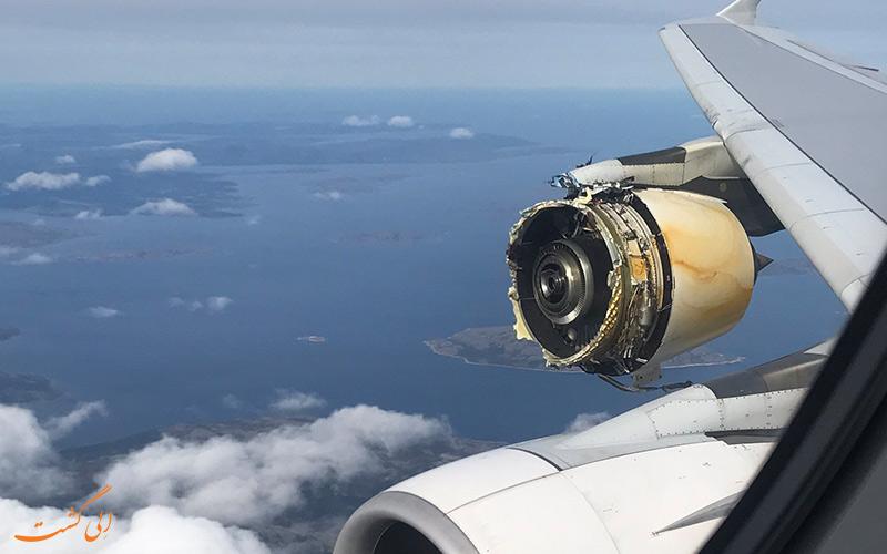 آتش سوزی موتور هواپیما