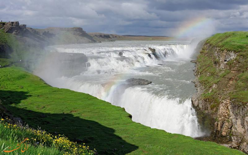 نمایی زیبا از آبشار گولفوس