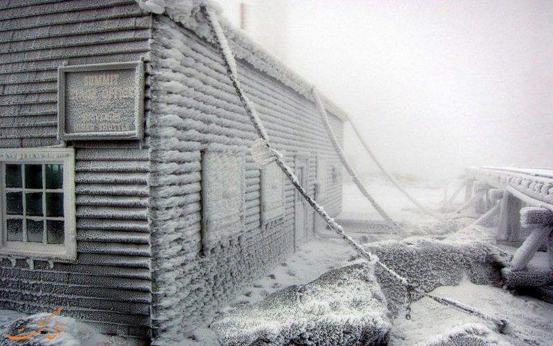 شهر یخ زده در قله واشینگتن