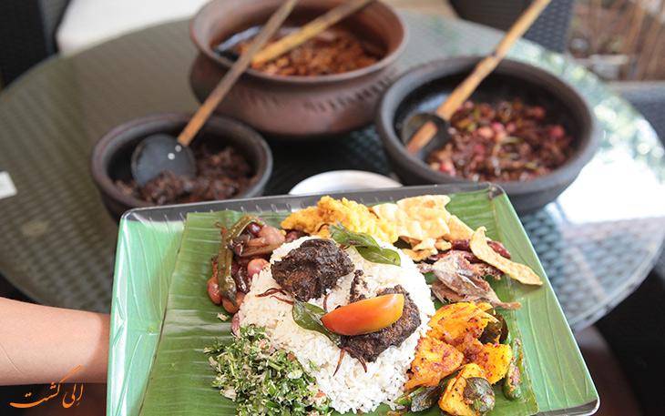 غذاهای محبوب در سریلانکا