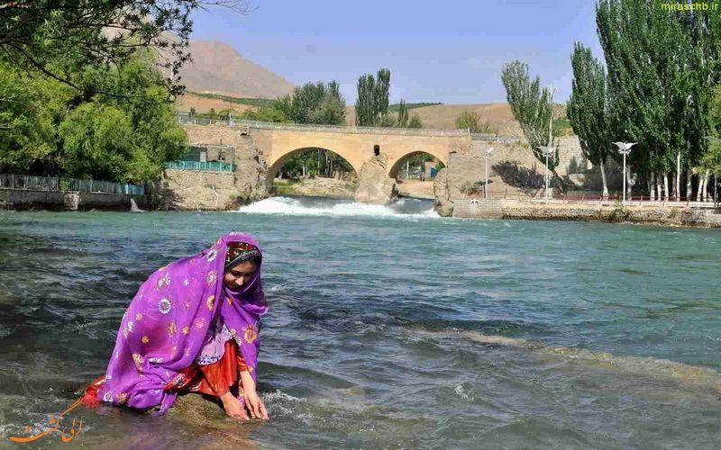 نمایی زیبا از پل زمان خان