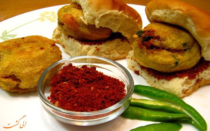 غذای هندی وادا پاو