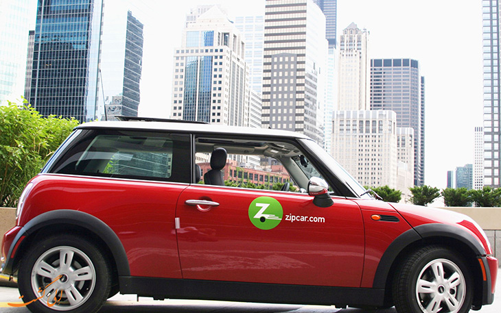 Zip Car شرکت تاکسی اینترنتی