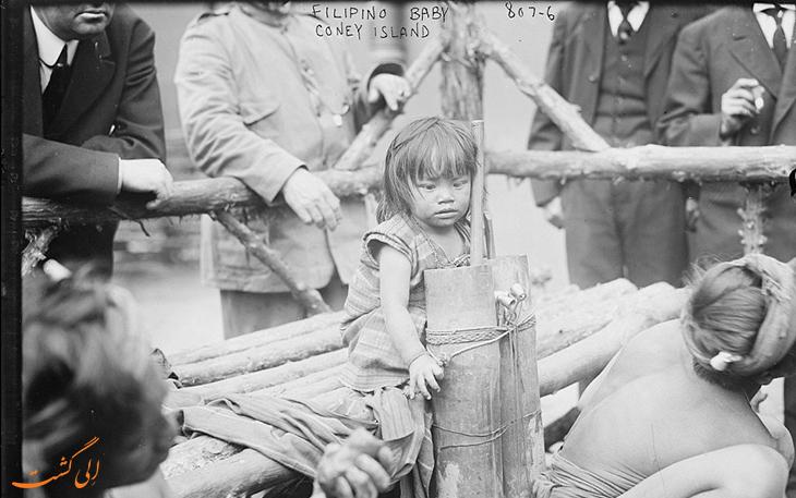 کودک فیلیپینی در باغ وحش انسانی