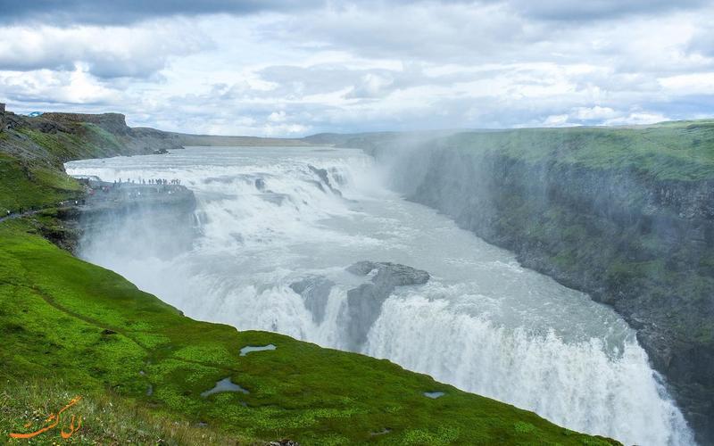 گولفوس آبشاری زیبا در ایسلند