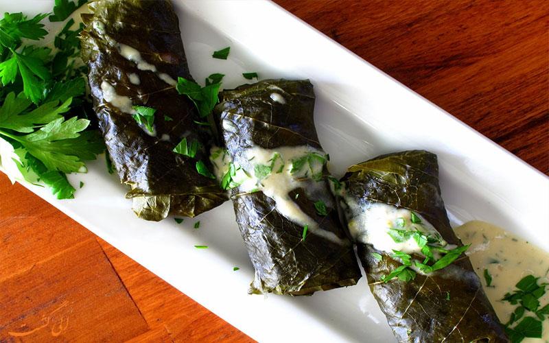 دلمه یونانی- خوشمزه ترین غذاهای گیاهی دنیا