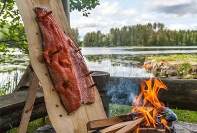پخت غذا بر روی آتش-الی گشت