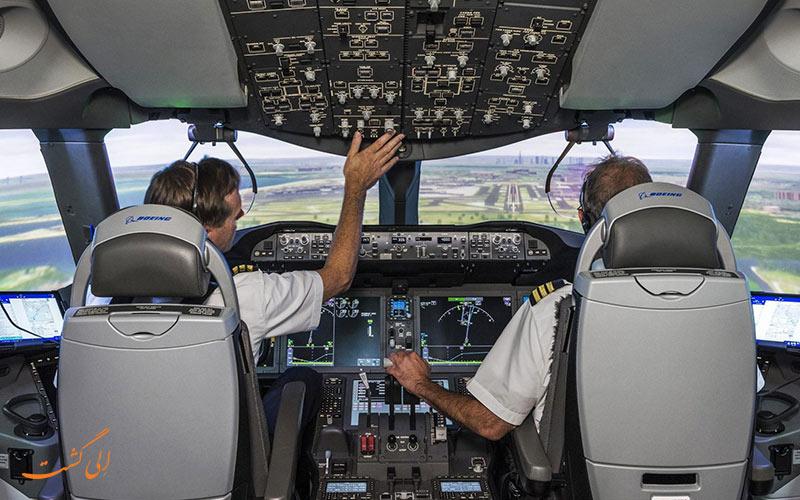 تهویه هوای داخل کابین خلبان