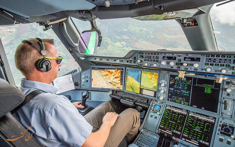 هوای داخل کابین خلبان