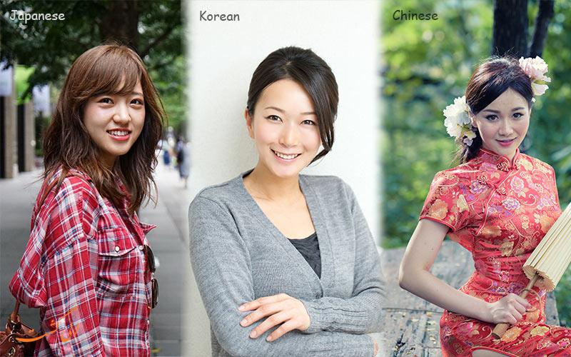 کره ای، چینی و ژاپنی