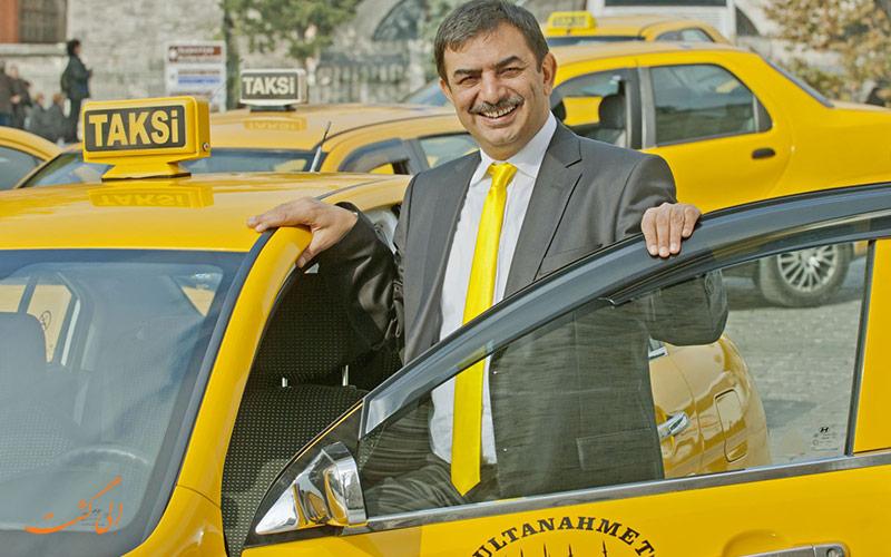 رانننده تاکسی در استانبول
