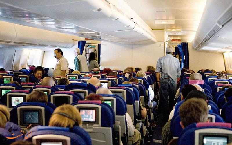 انتخاب صندلی هواپیما