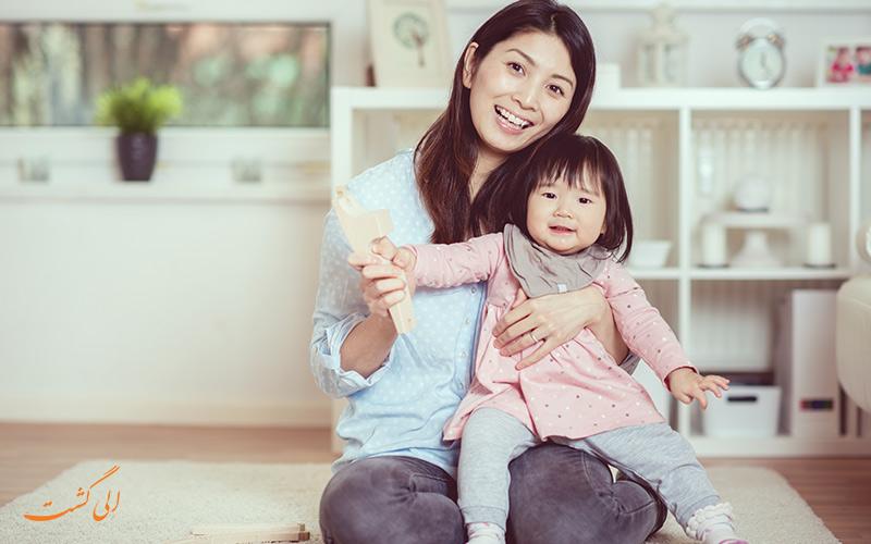 زن و کودک ژاپنی