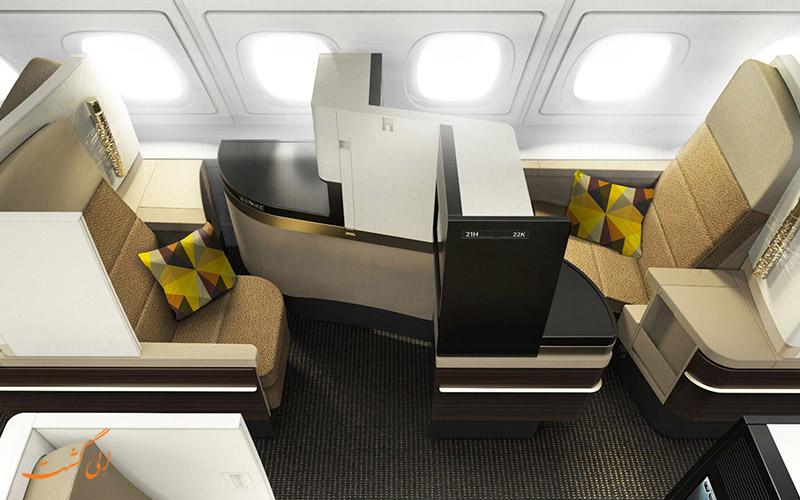 صندلی های رو به عقب در هواپیما