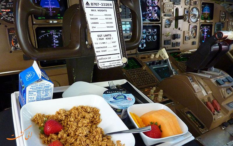 غذای خلبان در کابین