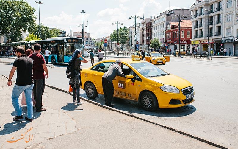 استفاده از تاکسی در استانبول