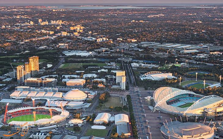 نمایی از پارک المپیک سیدنی
