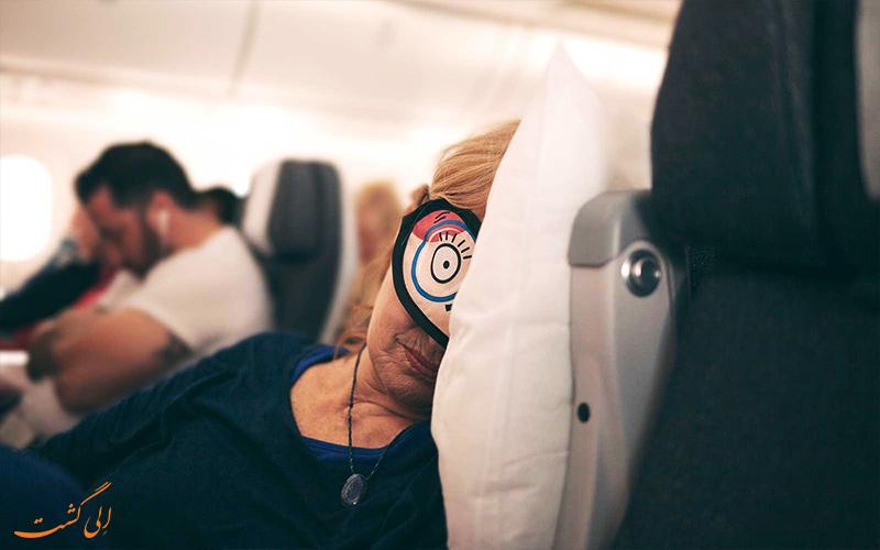 خوابیدن در هنگام فرود