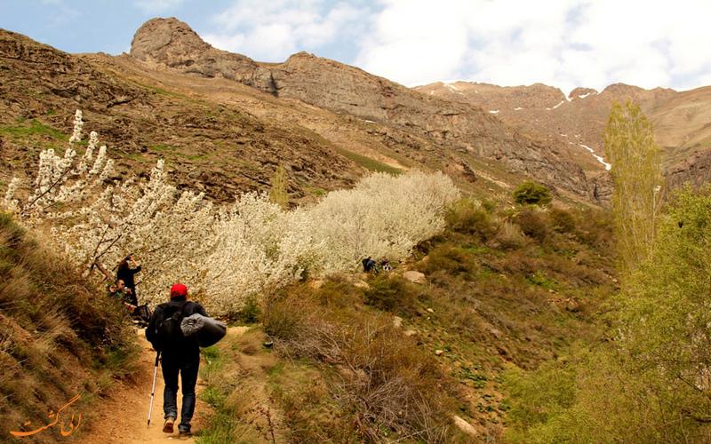 مسیر آبشار سنگان